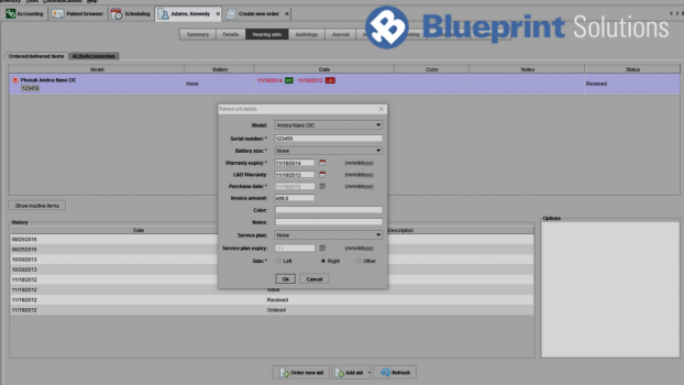 Tutorials blueprint solutions 16 how to edit hearing aid details malvernweather Images